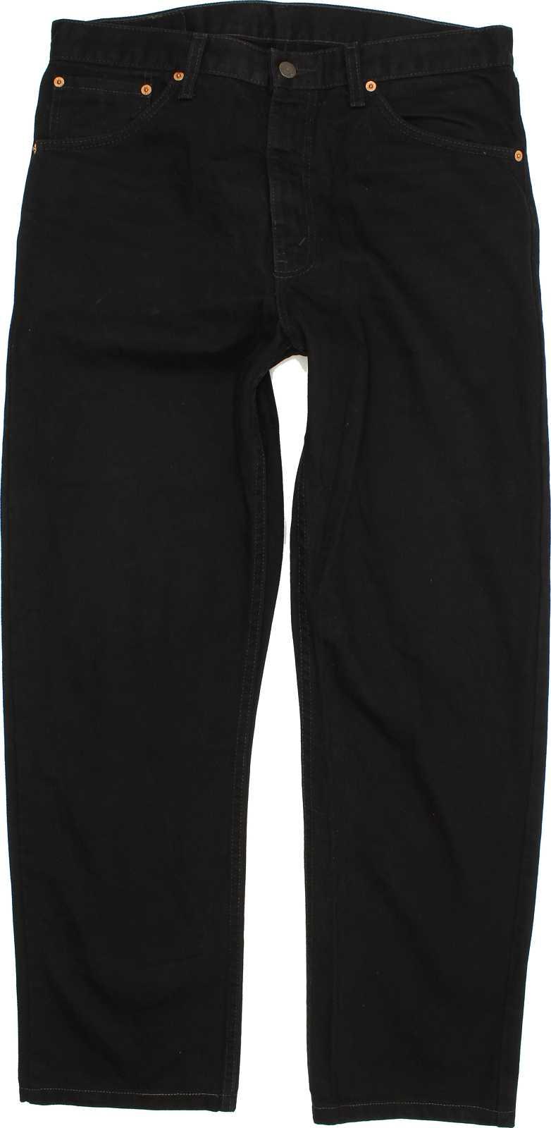 Levi-039-s-521-Herren-Schwarz-Straight-Jeans-W34-L30-40617